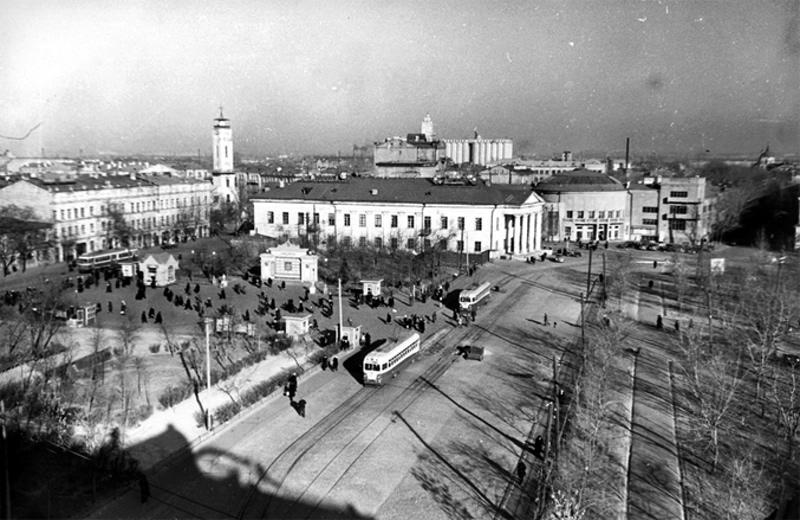 Киев. Контрактовая площадь. 1953-й год.