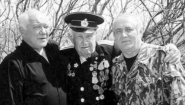 Русский остров. Слева направо: Александр Гельбах, Павел Гельбах, Владимир Тыцких.
