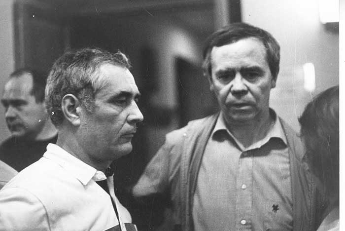 Владимир Тыцких и Валентин Распутин (справа)