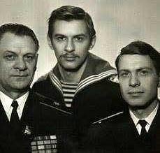 Н.С. Каплунов с сыновьями