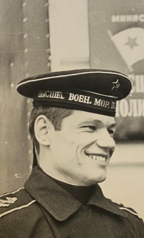 Курсант Павленко А.П. Фото в первом номере газеты «Политработник флота». 1967 г.